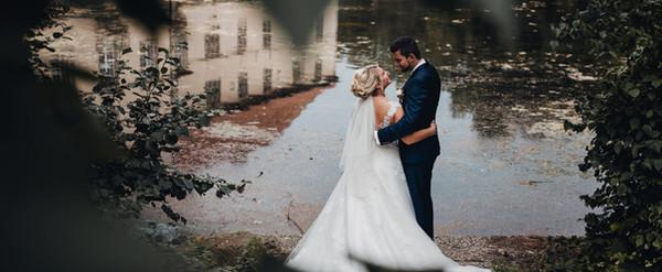 Brautpaar Hochzeit Brautpaarshooting Schloss Strünkede Bootshaus Herne