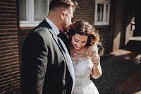 Hochzeit Brautpaar Laura & David am Standesamt Rathaus in Bottrop