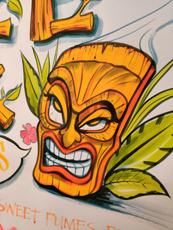 Tiki poster commission detail