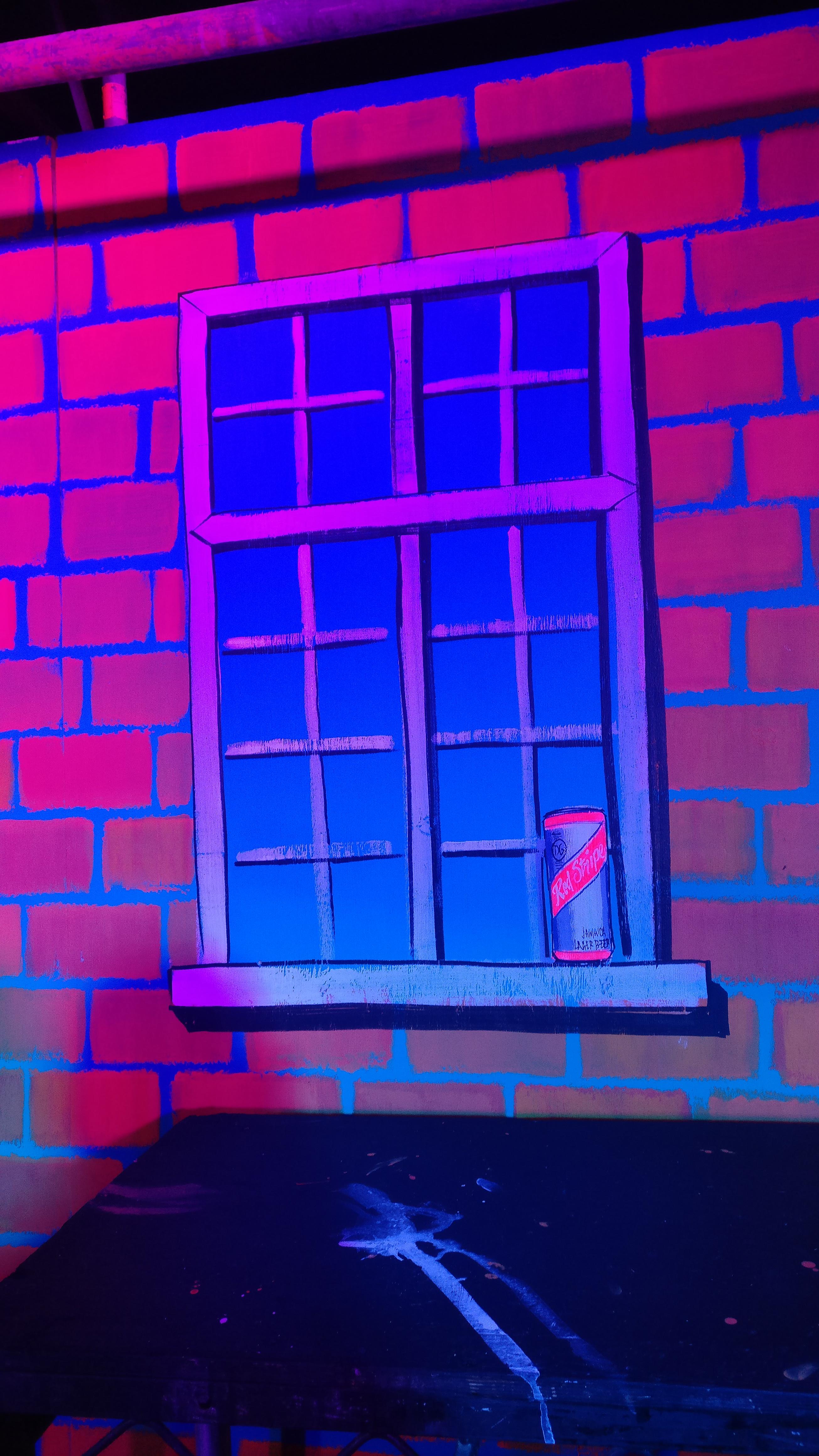 UV stage backdrop
