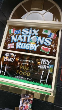 Six Nations window splash
