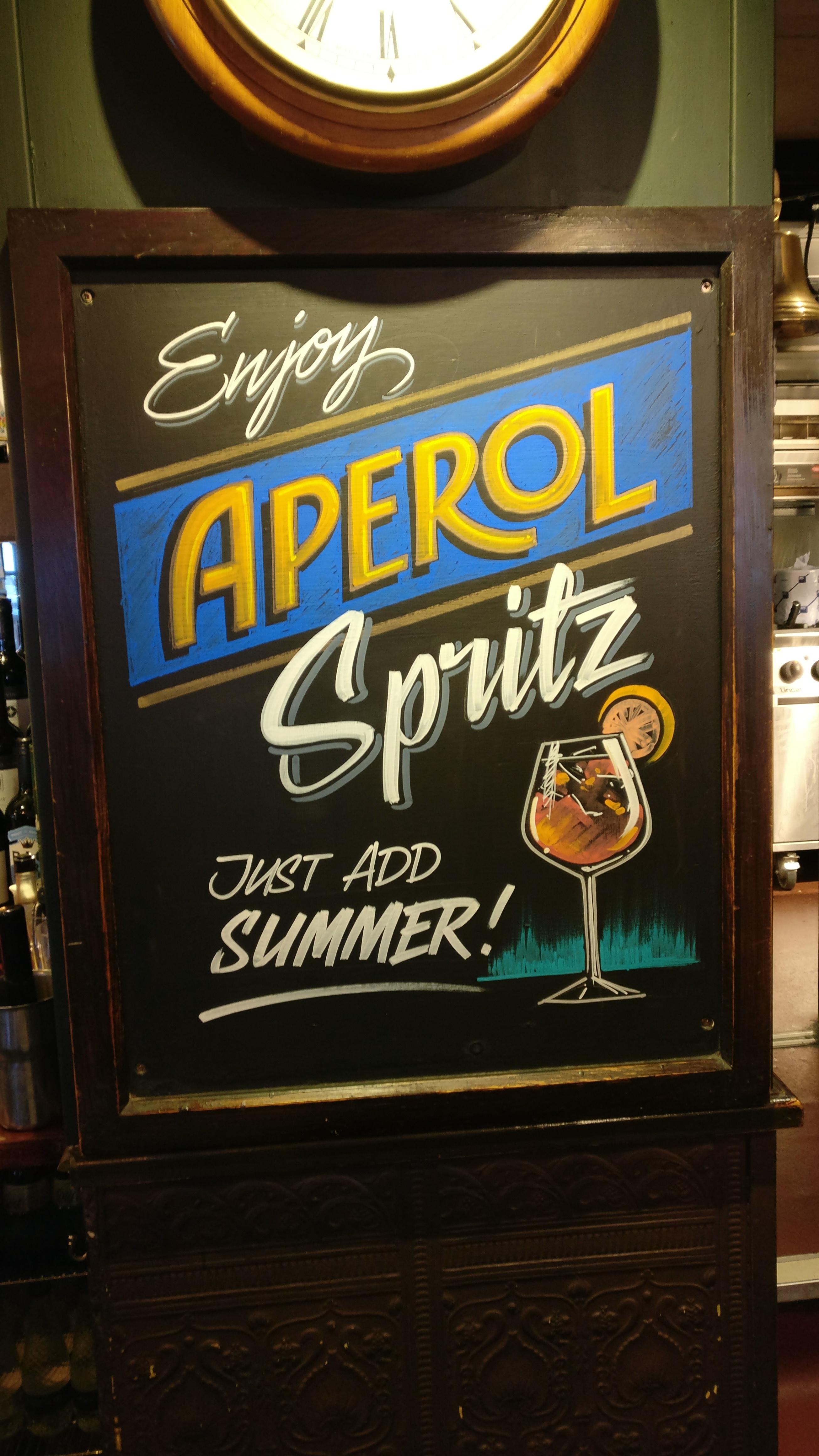 Aperol Spritz promo, Bloomsbury