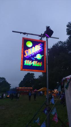 UV festival swing sign
