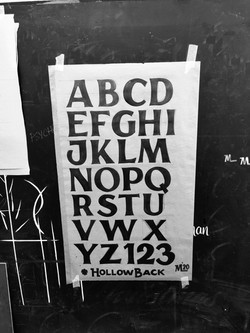 Hollowback lettering