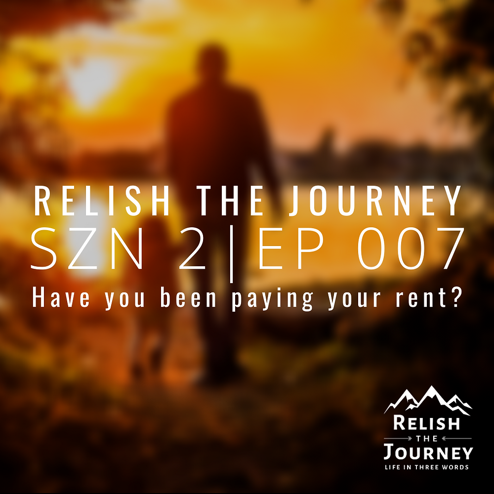 Father and son standing at a sunset | Relish The Journey podcast