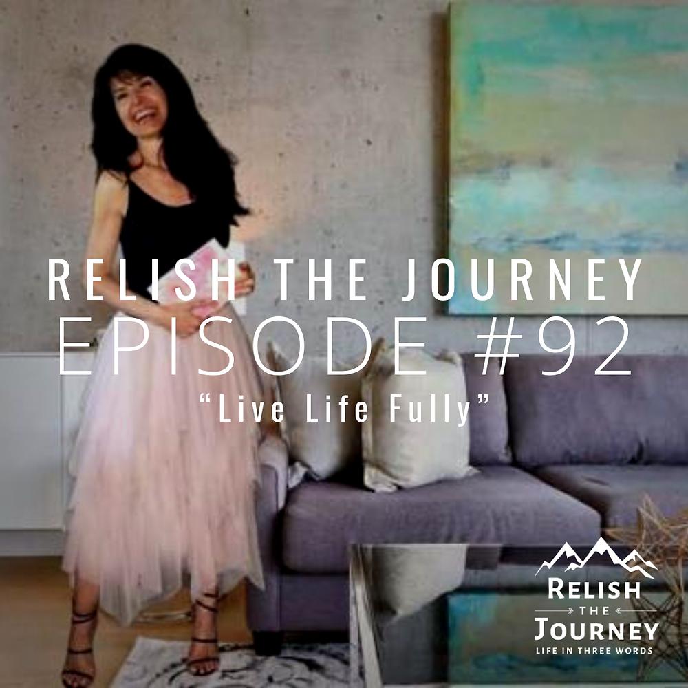 Sabrina Cadini on Relish The Journey podcast with Myles Biggs