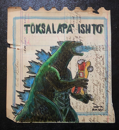 Ledger Doodle: Toksala'pa' ishto' (Godzilla)