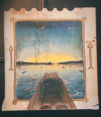 """Ledger Doodle: """"fochik ishto'"""" (morning star)"""