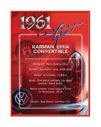 Rod Dixon 1961 Karman Ghia