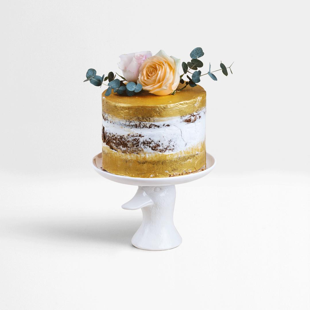 Pastel de bodas de oro