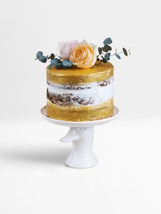 Gold Nude Cake