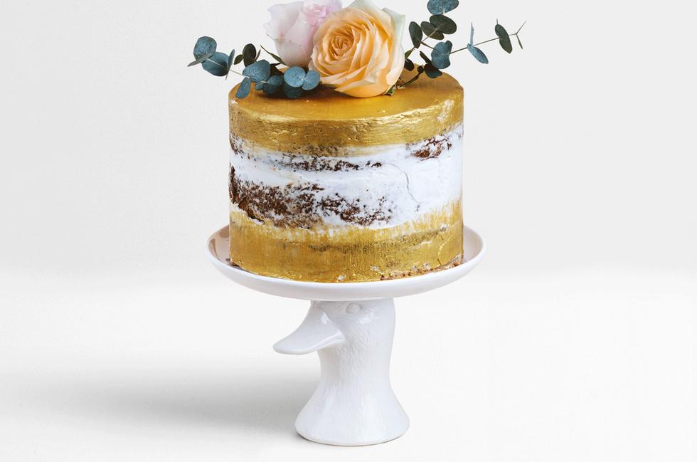 Gold Hochzeitstorte