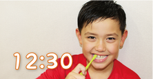 園児の歯磨き