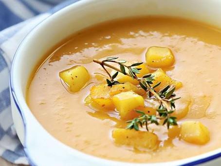 Тыквенный суп с чечевицей и картофелем