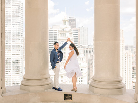 Proposal on the LondonHouse, Chicago | Sharla & Chris | Emma Belen Photography