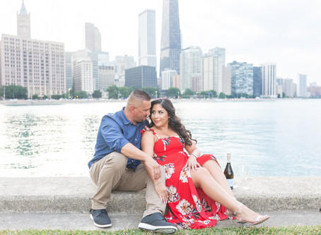Maritza +Roy's Engagement Session \ Olive Park, Chicago \ Emma Belen Photography
