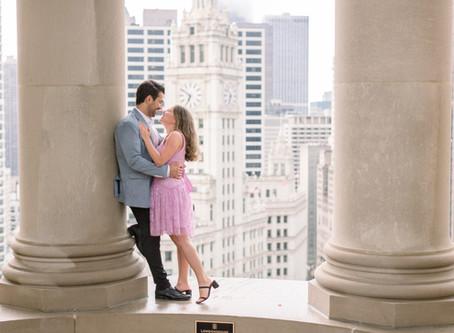 LondonHouse Proposal, Chicago | Maria & George | Emma Belen Photography