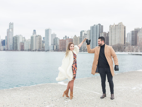 Surprise Wedding Proposal | Yessel + Marco | North Avenue Beach, Chicago  | Emma Belen Photography