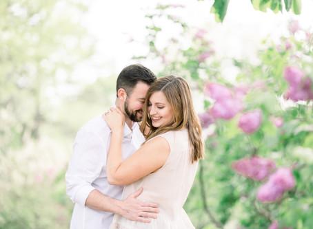 Liza & Kyle's Engagement Session   Lilacia Park, Lombard   Emma Belen Photography