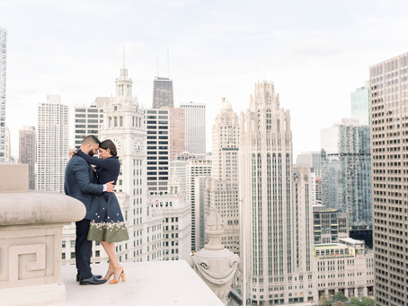 Stephanie & Miguel | LondonHouse Proposal, Chicago | Emma Belen Photography