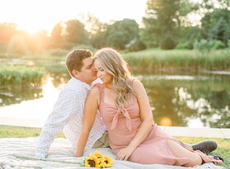 Nicole & Daniel's Engagement Session | Cantigny Park, Wheaton | Emma Belen Photography