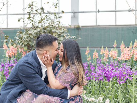 Janina & Will | Engagement Session | Garfield Park Conservatory, Chicago IL | Emma Belen Photography