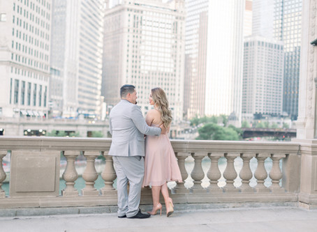 Paloma & Edwin's Engagement Session   Wrigley Building, Chicago   Emma Belen Photography