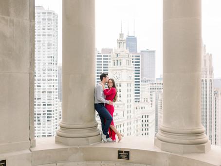 LondonHouse, Chicago. Proposal  | Hannah & Nate | Emma Belen Photography