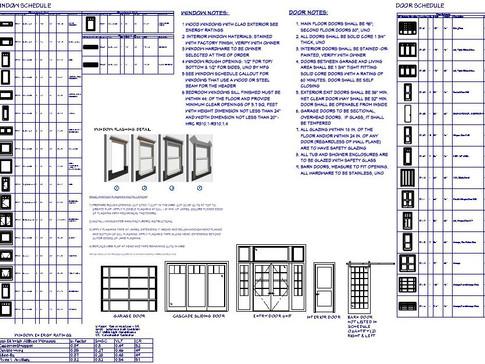 window & door schedules