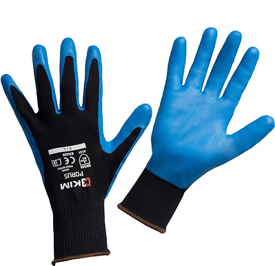 Guantes Nylon - Nitrilo Azul Ref. Porus. Marca Kim
