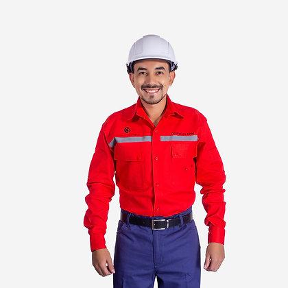 Camisa  en dril cuello Camisero