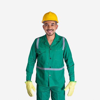 Camisa  en dril cuello Sport