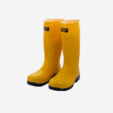 Bota PVC color Amarilla Seguridad Guerrera Hidrocarburos Robusta