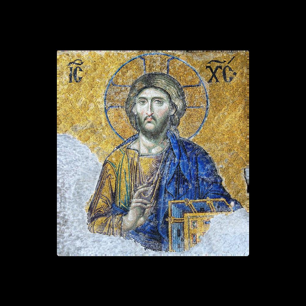 Imagem ou ícone de Cristo com o livro da Palavra, da sua Palavra, isto é, os Evangelhos