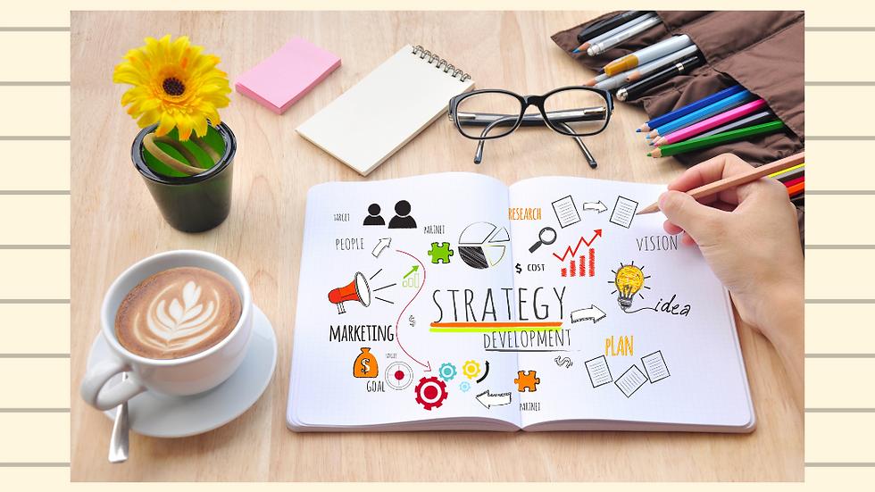 Esboço do seu plano estratégico de marketing