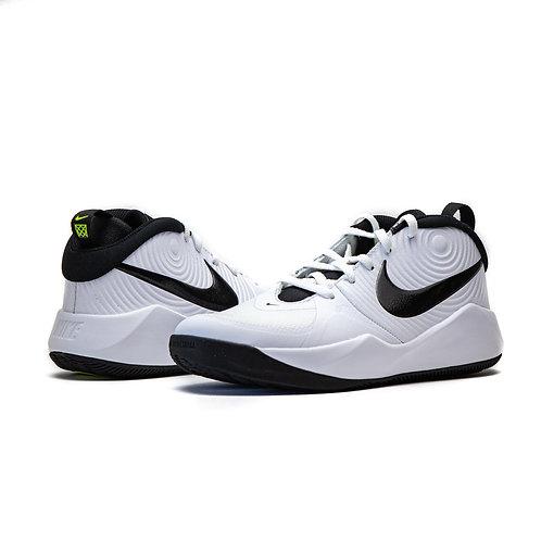 Nike Team Hustle D9 GS WHITE / BLACK VOLT