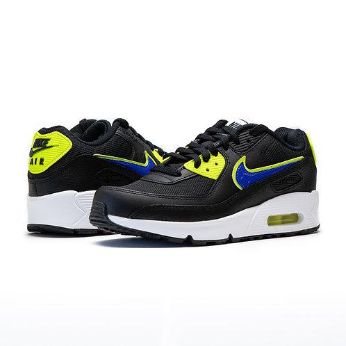 Nike Air Max 90 GS BLACK / RACER BLUE VOLT