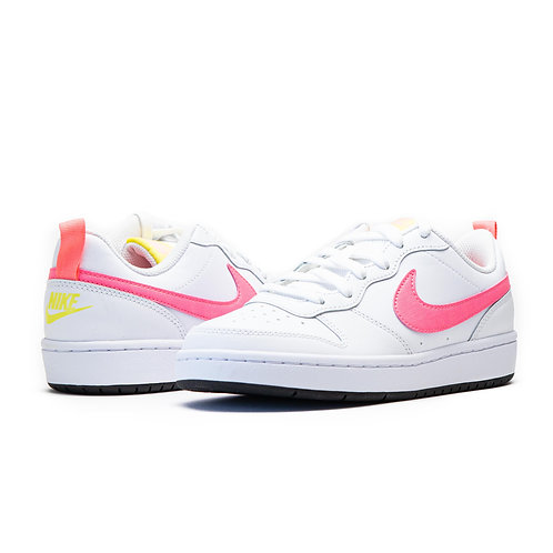 Nike Court Borough Low 2 GS WHITE / SENSET PULSE