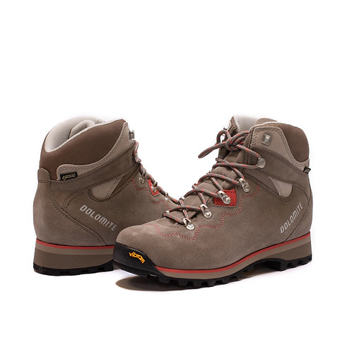Dolomite Saint Moritz GTX - Mud Grey/Coral Red