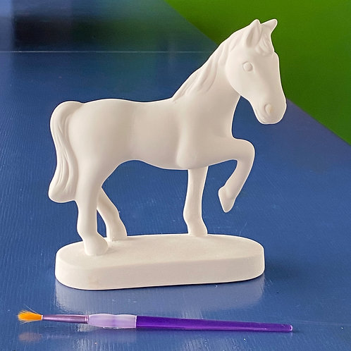 Standing Horse with Base