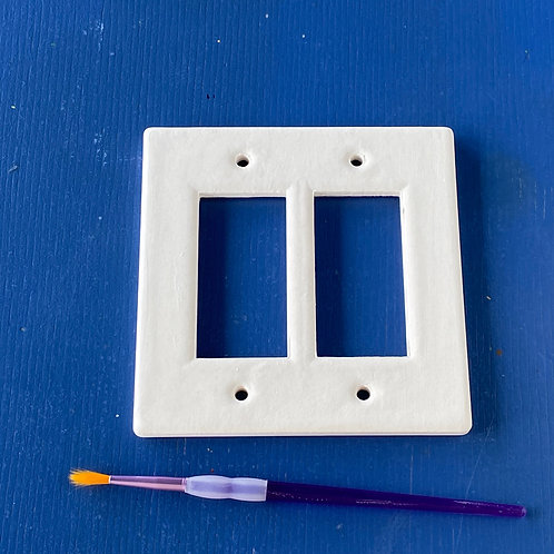 Double Lightswitch cover (rocker style)