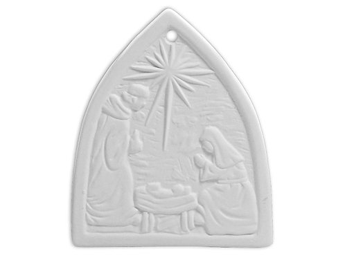 Flat Nativity Ornament