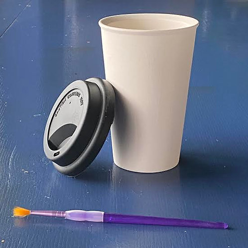 Travel Tumbler with Black Lid