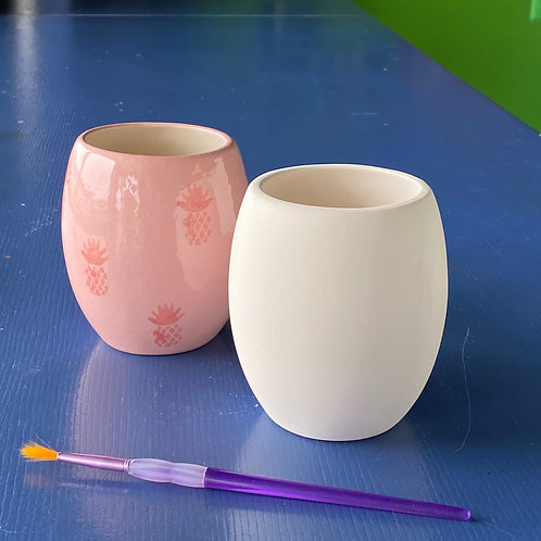 Stemless Wine Glass/Curved Cup