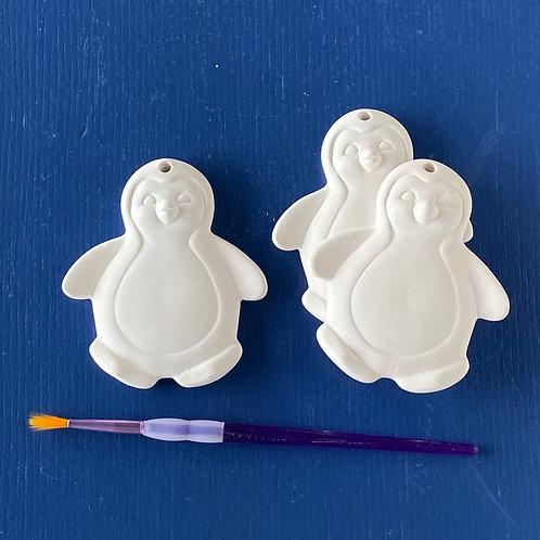 Flat Penguin Ornament