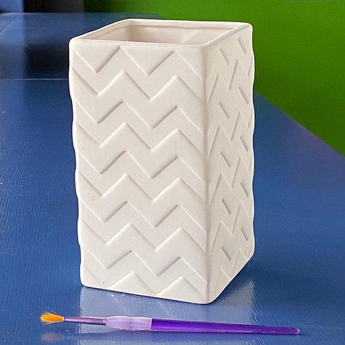 Chevron Vase