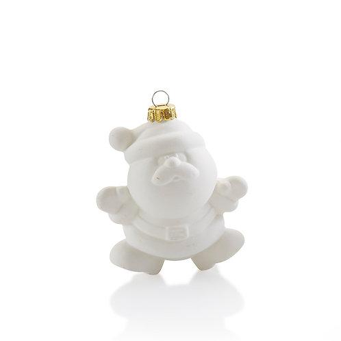 Santa Bulb Ornament