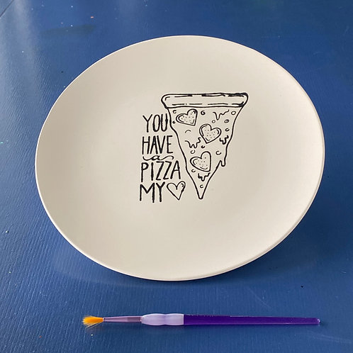 """Pizza My Heart""  Plate"