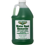Description: Removes hard water spots from paint, gelcoat, plastic, chrome, aluminum and stainless. Clear Coat safe, waterbased. To prevent water spots, use Wash Wax ALL. Use Aero Scrubber to softly scrub without scratching. Use on: Complete airframe as needed.   Presentations: 16 oz & 1/2 Gallon