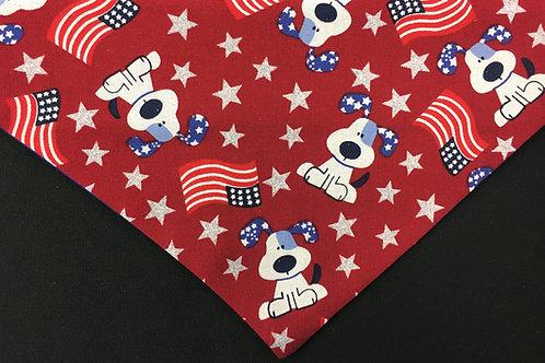 Patriotic Dog - Red